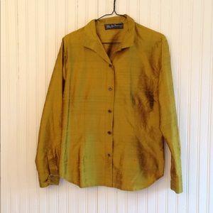Burberry | Vintage gold blouse medium